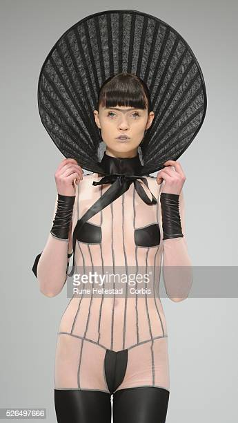 Model on the runway at Pam Hogg's Autumn/ Winter 2012 fashion show at London Fashion Week