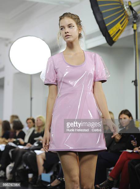 Model on the runway at Richard Nicoll's Spring/Summer 2012 fashion show at London Fashion Week