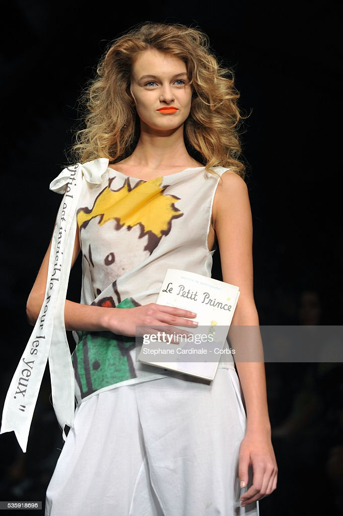 A model on the runway at the Jean-Charles de Castelbajac show as part of Paris Fashion Week Spring/Summer 2011 in Paris.