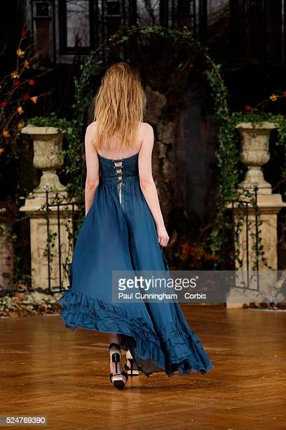 Model on the runway at the Kristian Aadnevik Autumn Winter fashion show during London Fashion Week AW 2016 The Royal Horseguards London 21 February...