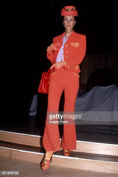 A model on the runway at the Rock N' Rule Benefit Gala for AmFar hosted by Versace circa 1992 in New York City