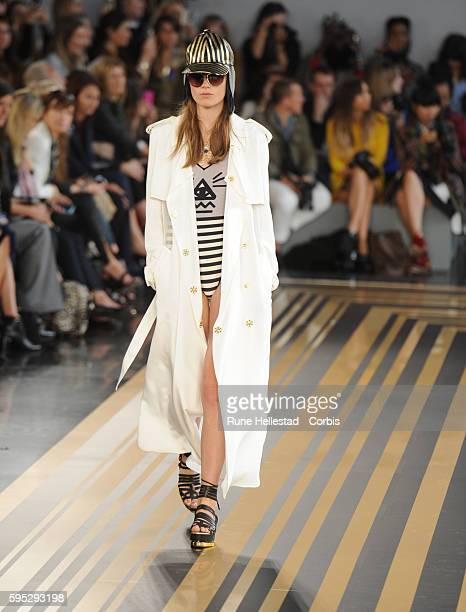Model on the runway at Topshop Unique's Spring/Summer 2012 fashion show at London Fashion Week