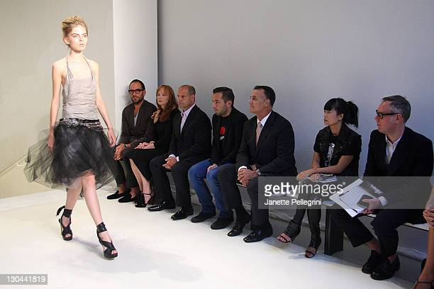A model on the runway at Vera Wang Spring 2010 during MercedesBenz Fashion Week at 158 Mercer Street on September 15 2009 in New York City