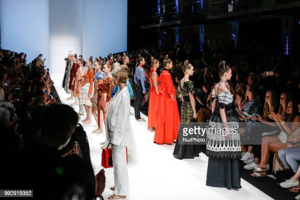 Model on the runway during the Ivr Isabel Vollrath Spring/Summer 2019 collection show during the third day of MBFW Berlin Fashion Weak in the ewerk...