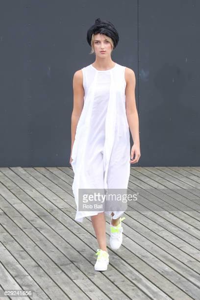 A model on the runway for designer Bitte Kai Rand during the Copenhagen Fashion Week Spring/Summer 2018 on August 10 2017 in Copenhagen Denmark