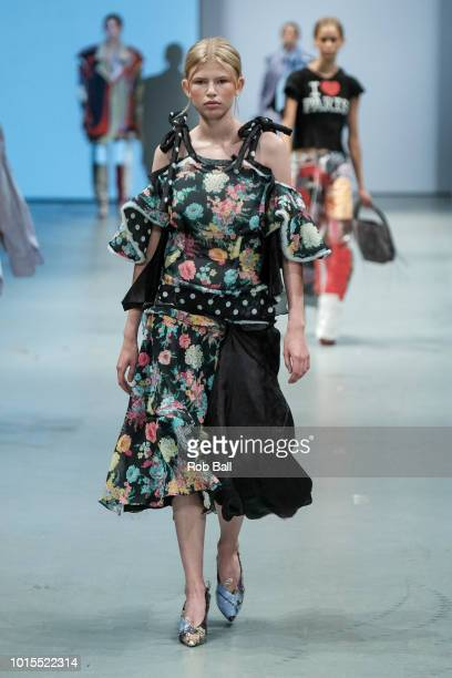 A model on the runway for Kristine SehestedBlad for the Future of Fashion Show during Copenhagen Fashion Week Spring/Summer 2019 on August 8 2018 in...