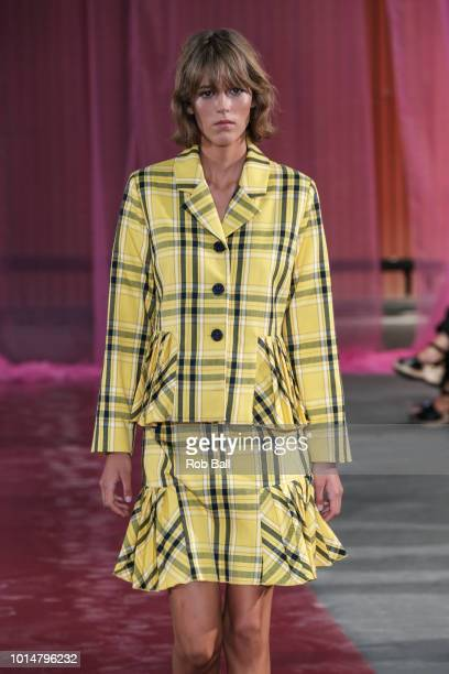 A model on the runway for Resume during Copenhagen Fashion Week Spring/Summer 2019 on August 7 2018 in Copenhagen Denmark