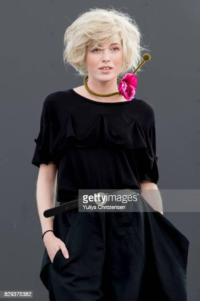 A model on the runway for the designer Bitte Kai Rand during the Copenhagen Fashion Week Spring/Summer 2018 on August 10 2017 in Copenhagen Denmark
