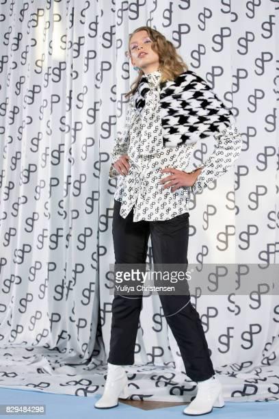 A model on the runway for the Saks Potts during the Copenhagen Fashion Week Spring/Summer 2018 on August 10 2017 in Copenhagen Denmark