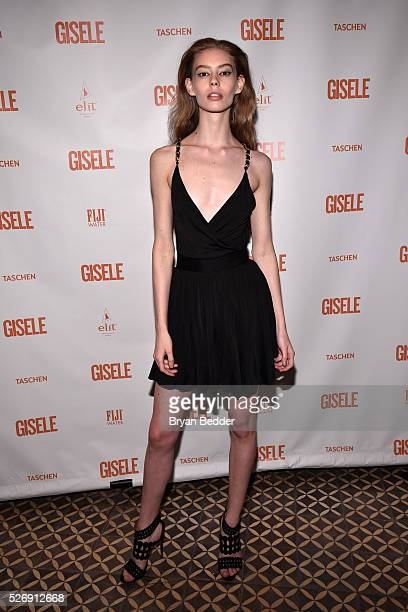 Model Ondria Hardin attends the Gisele Bundchen Spring Fling book launch on April 30 2016 in New York City
