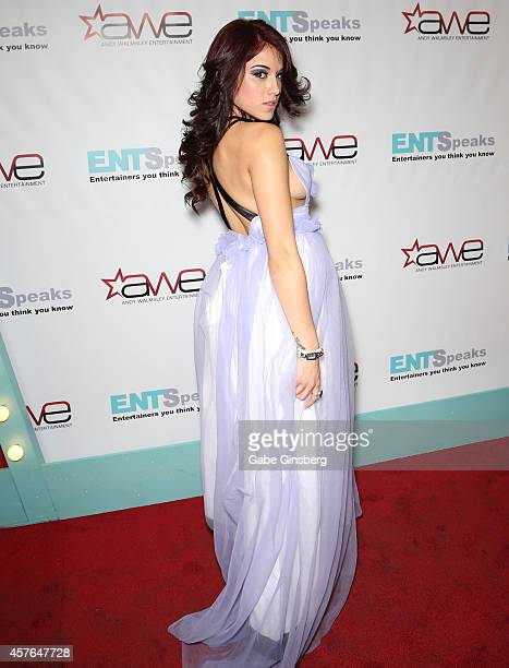 Model Onyx Muse arrives at ENTSpeaks at the Inspire Theatre on October 21, 2014 in Las Vegas, Nevada.