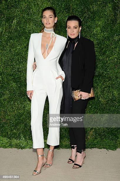 Model Ophelie Guillermand and jewelry designer Dana Lorenz attend the 12th annual CFDA/Vogue Fashion Fund Awards at Spring Studios on November 2,...