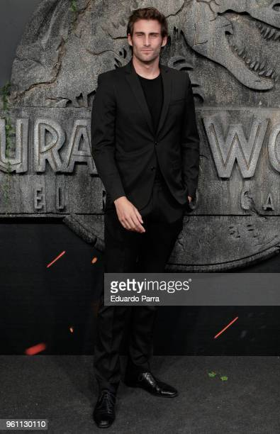 Model Oriol Elcacho attends the 'Jurassic World Fallen Kingdom' premiere at Wizink Center on May 21 2018 in Madrid Spain