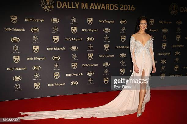 Model Ortenzia Borre arrives at the 2016 Dally M Awards at Star City on September 28 2016 in Sydney Australia