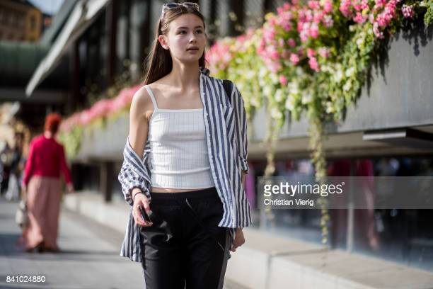 A model outside By Malina on August 30 2017 in Stockholm Sweden