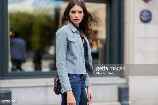 A model outside byTiMo on August 22 2017 in Oslo Norway