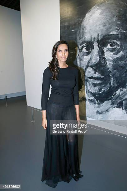 Model Padma Lakshmi attends the 'Picasso Mania' Press Preview Held at Grand Palais on October 4 2015 in Paris France