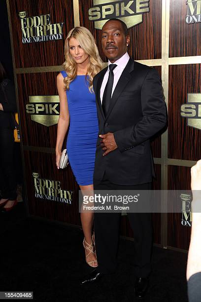 Model Paige Butcher and honoree Eddie Murphy arrive at Spike TV's Eddie Murphy One Night Only at the Saban Theatre on November 3 2012 in Beverly...
