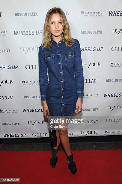 Model Paige Reifler attends DuJour Magazine's Jason Binn and Casa de Campo's celebration of Rob Gronkowski with Bruce Weber presented by Absolut Elyx...