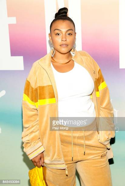 Model Paloma Elsesser attends the Fenty Puma by Rihanna show during New York Fashion Week at the 69th Regiment Armory on September 10 2017 in New...