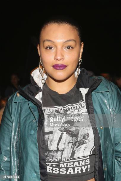 Model Paloma Elsesser attends the Gypsy Sport fashion show at Pier 59 on February 11, 2018 in New York City.