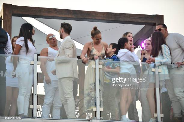 Model Paloma Jimenez Vin Diesel Jennifer Lopez and Alex Rodriguez with children Emme Maribel Muñiz Maximilian David Muñiz Natasha Alexander Natasha...