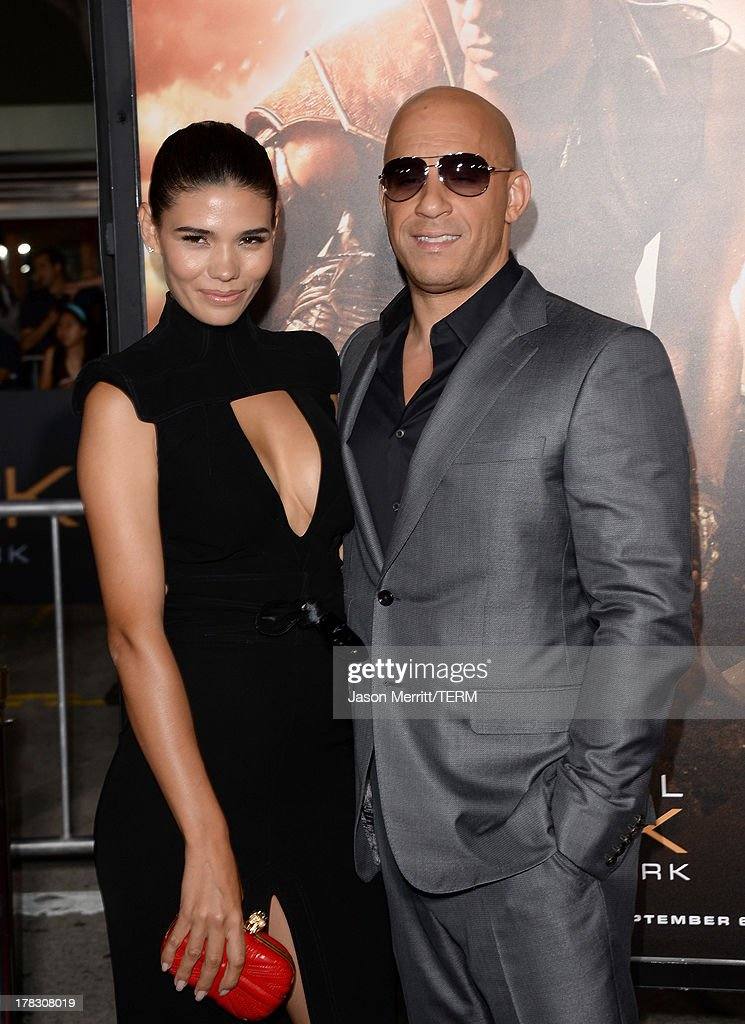 Model Paloma Jiménez and Actor/producer Vin Diesel arrive at the premiere of Universal Pictures' 'Riddick' at Mann Village Theatre on August 28, 2013 in Westwood, California.