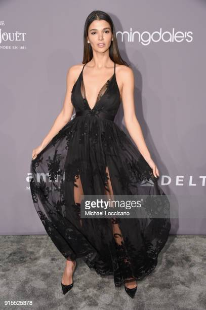 Model Pamela Lima attends the 2018 amfAR Gala New York at Cipriani Wall Street on February 7 2018 in New York City