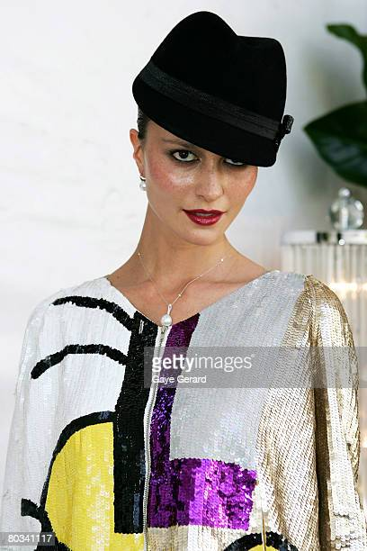 Model Pania Rose poses at the 2008 Magic Millions Carnival on March 22, 2008 on the Gold Coast, Australia.