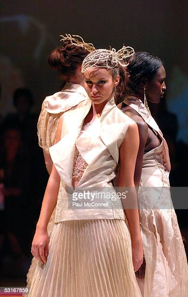 Model parades at the Lancome Colour Design Awards at The Royal Hall Of Industries Moore Park Sydney Australia June 29 2005