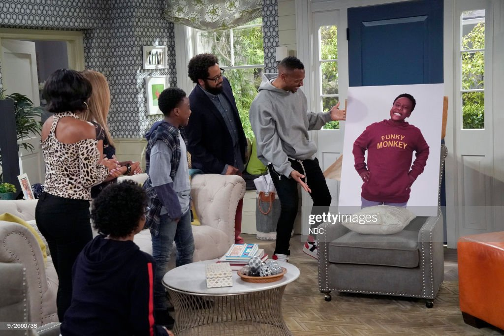 MARLON -- 'Model Parent' Episode 204 -- Pictured: (l-r) Amir O'Neil as Zack Wayne, Diallo Riddle as Stevie, Marlon Wayans as Marlon Wayne --