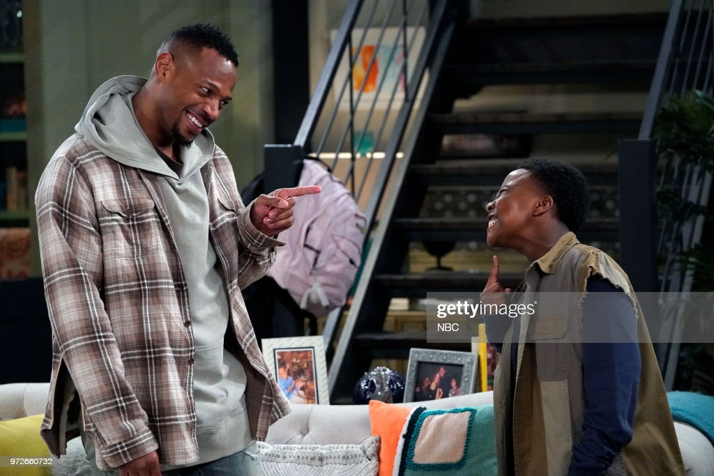 MARLON -- 'Model Parent' Episode 204 -- Pictured: (l-r) Marlon Wayans as Marlon Wayne, Amir O'Neil as Zack Wayne --