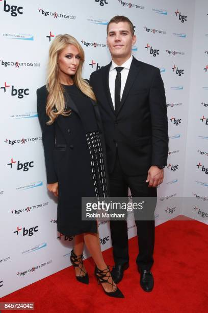 Model Paris Hilton and actor Chris Zylka attend Annual Charity Day hosted by Cantor Fitzgerald BGC and GFI at BGC Partners INC on September 11 2017...