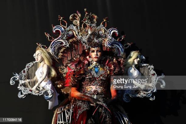 Model participates in the 2019 Daegu International Bodypainting Festival on August 25, 2019 in Daegu, South Korea. The festival is the largest in the...