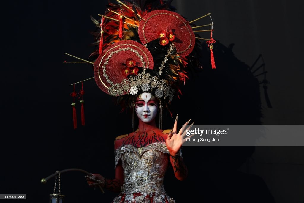 A Model Participates In The 2019 Daegu International Bodypainting News Photo Getty Images