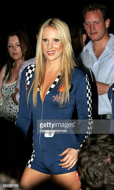 A model participates in the Gridmodels 2006 Calendar Catwalk Competition at The Penthouse on August 24 2005 in London England The beauty contest...