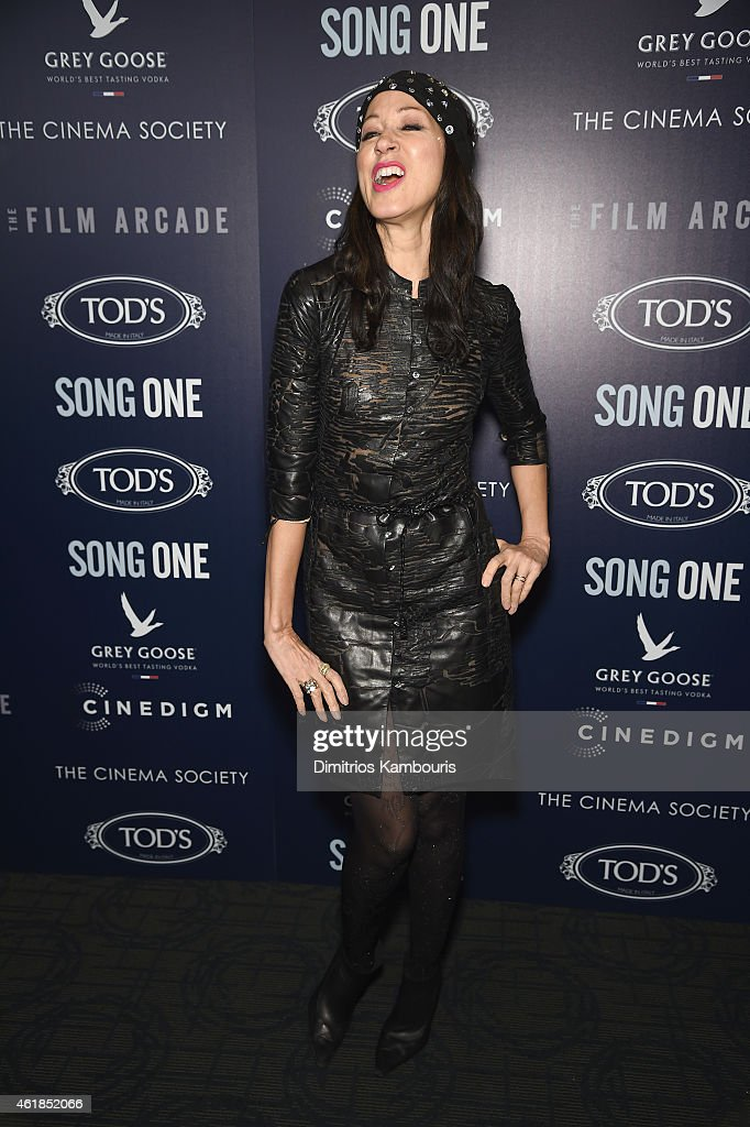 Model Pat Cleveland attends the premiere of the Film Arcade & Cinedigm's 'Song One' hosted by the Cinema Society & Tod's at Landmark's Sunshine Cinema on January 20, 2015 in New York City.