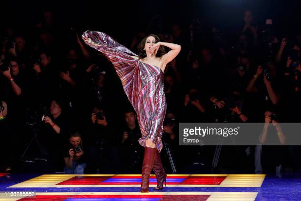 Model Pat Cleveland during the Tommy Hilfiger TOMMYNOW Spring 2019 TommyXZendaya Premieres at Theatre des ChampsElysees on March 2 2019 in Paris...