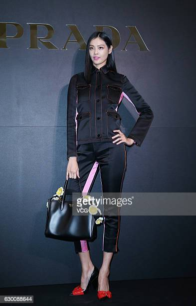 Model Patina Lin Jiaqi attends Prada Christmas Charity Party on December 15 2016 in Taipei Taiwan of China