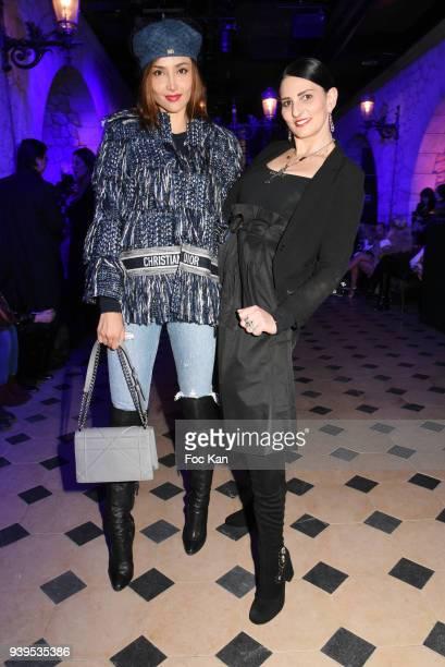 Model Patricia Contreras and writer/Model Sylvie Ortega Munos attend the Olga Boyarinova Couture Show At Euphoriom Club In Paris on March 28 2018 in...