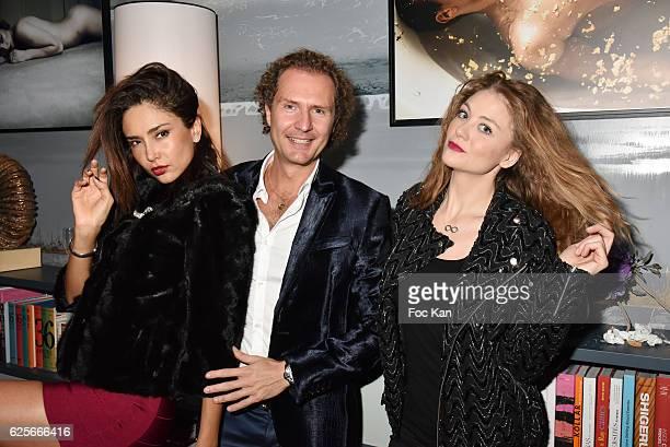 model Patricia Contreras Nicolas Mereau and Cyrielle Joelle attend 'Vibrations' Stefanie Renoma Photo Exhibition at Hotel Nolinski on November 24...