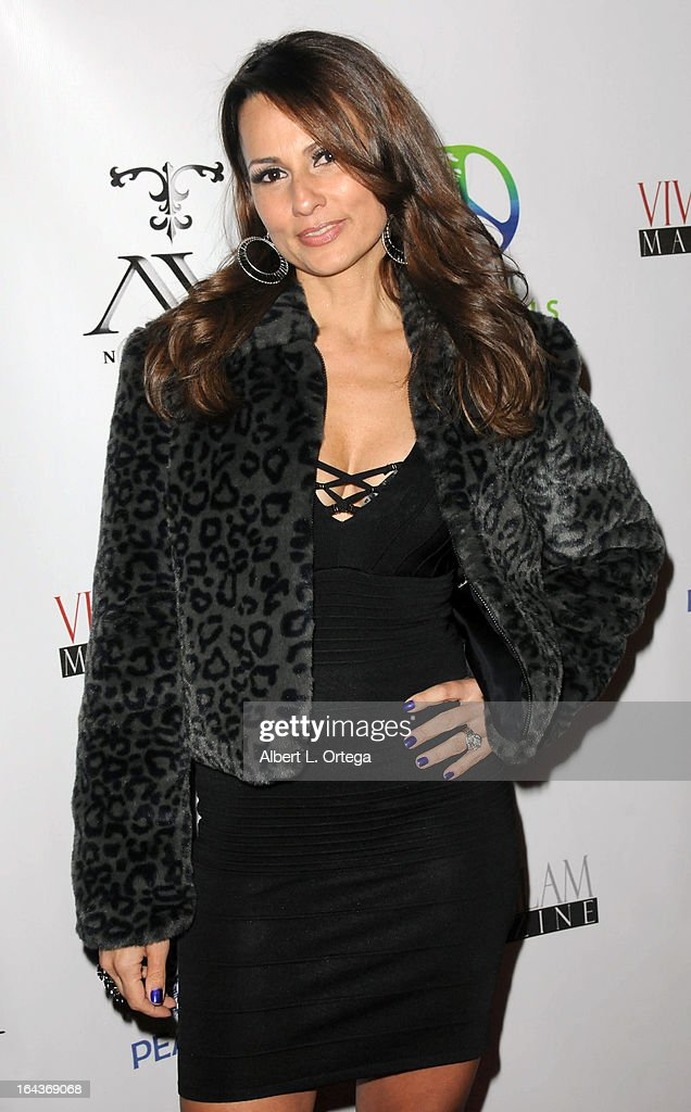 Model Patricia Kara arrives for the Celebration of the Viva Glam Magazine Launch April Issue featuring Katie Cleary to benefit Animals 4 Peace at AV on March 22, 2013 in Hollywood, California.