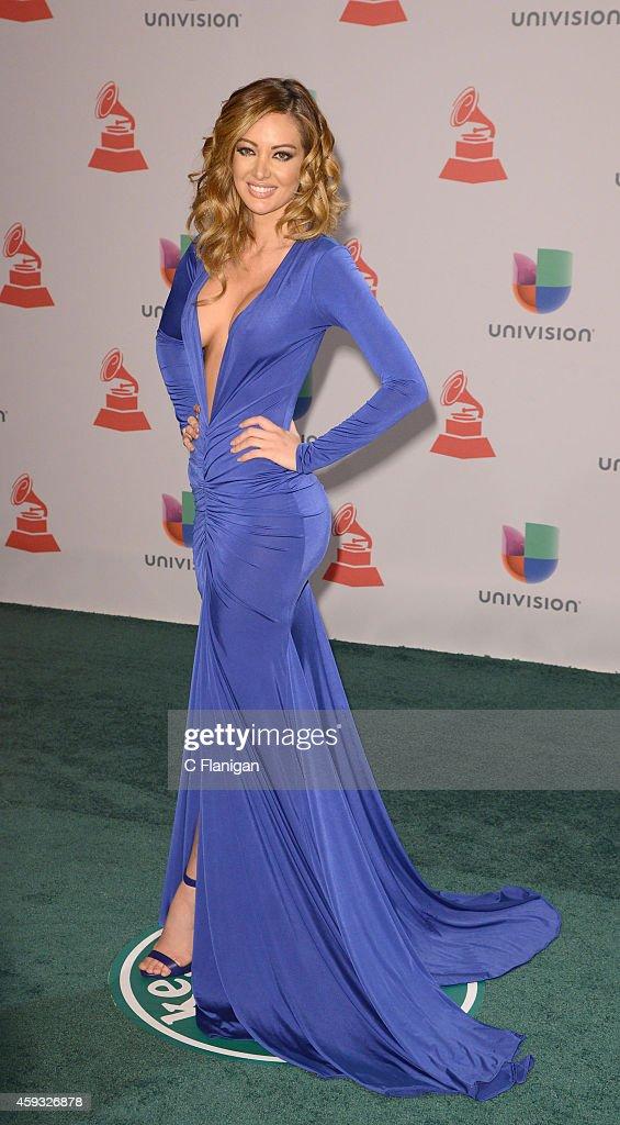 Model Patricia Zavala attends the 15th Annual Latin GRAMMY Awards at the MGM Grand Garden Arena on November 20, 2014 in Las Vegas, Nevada.