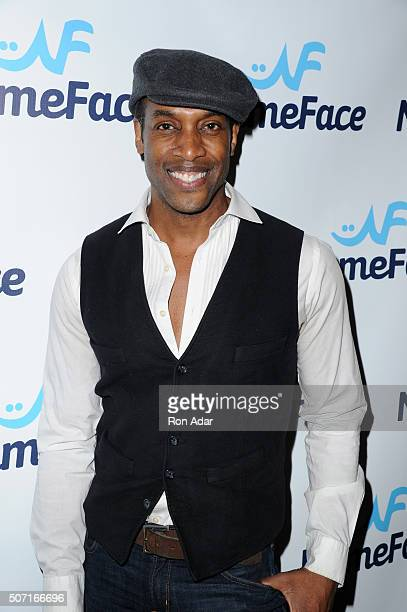 Model Patrick Hazlewood attends the NameFacecom launch at No 8 on January 27 2016 in New York City