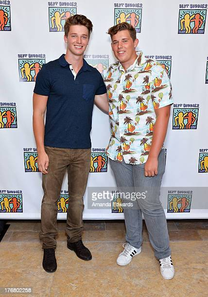 Model Patrick Schwarzenegger and his brother Christopher Schwarzenegger attend the Team Maria benefit for Best Buddies at Montage Beverly Hills on...