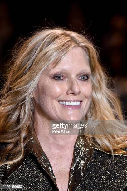 Model Patti Hansen beauty runway detail walks the runway at the Michael Kors fashion show during New York Fashion Week on February 13 2019 in New...