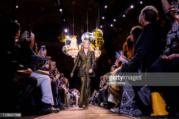 Model Patti Hansen walks the runway at the Michael Kors fashion show during New York Fashion Week on February 13 2019 in New York City
