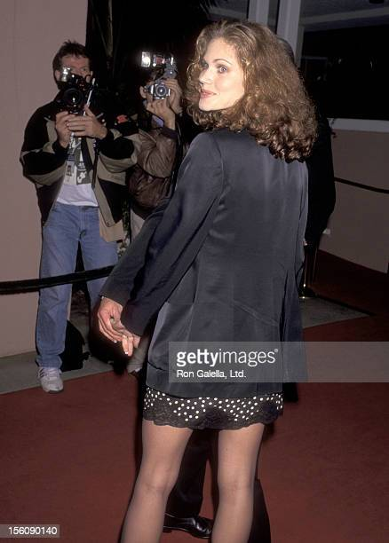 Model Paula Barbieri attends GQ Editor Art Cooper Hosts Cocktail Party for Peter Bart on December 12 1995 at Beverly Hills Hotel in Beverly Hills...