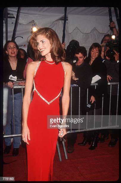 Model Paula Barbieri attends the Council of Fashion Designers of America awards February 12 1996 in New York City Since 1981 the CFDA has held the...