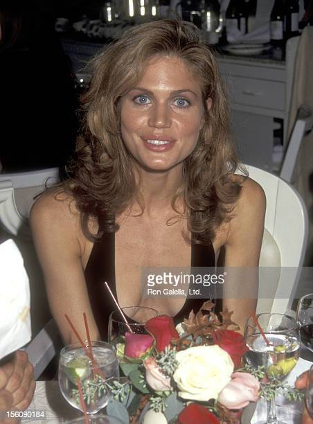 Model Paula Barbieri attends the 'Unhook the Stars' New York City Premiere Party on October 24 1996 at Tavern on the Green in New York City New York